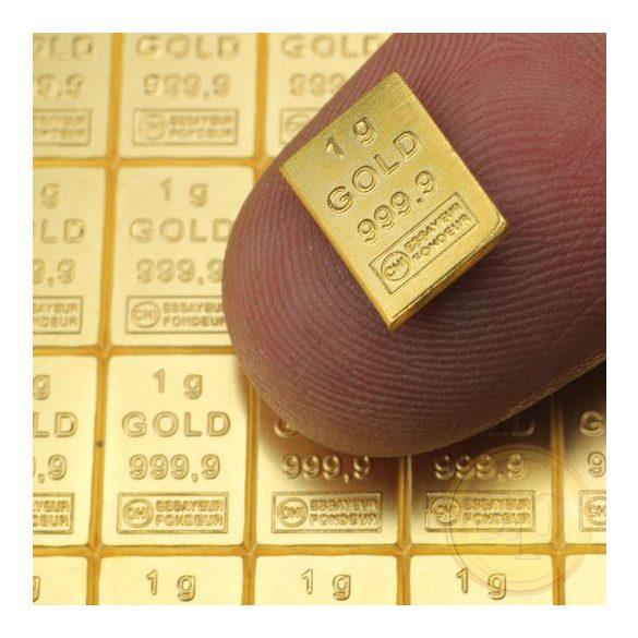 Aranytábla 50 gramm (Heimerle, Valcambi)