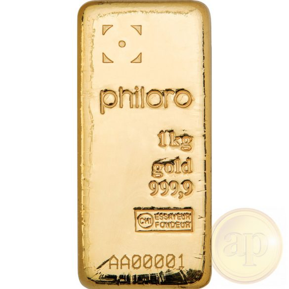 Más nemzetközi gyártó (C.Hafner, Heimerle, Heraeus stb.) aranyrúd, 1000 gramm