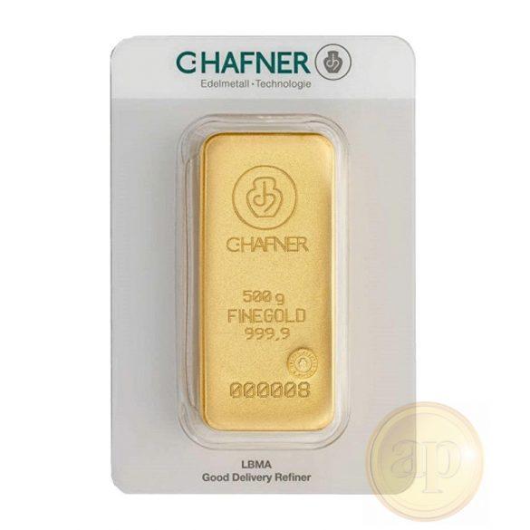 Más nemzetközi gyártó (C.Hafner, Heimerle, Heraeus stb.) aranyrúd, 500 gramm