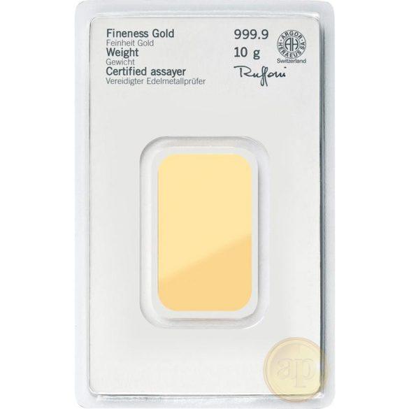 Más nemzetközi gyártó (C.Hafner, Heimerle, Heraeus stb.) aranyrúd, 10 gramm