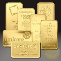 Más nemzetközi gyártó (C.Hafner, Heimerle, Heraeus stb.) aranyrúd, 1 uncia