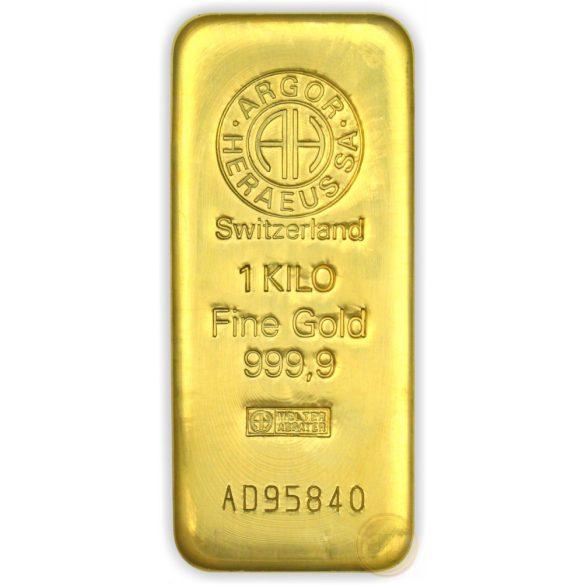 Argor Heraeus, Münze Österreich aranyrúd, 1000 gramm