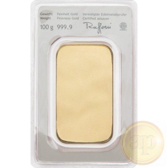 Argor Heraeus, Münze Österreich aranyrúd, 100 gramm