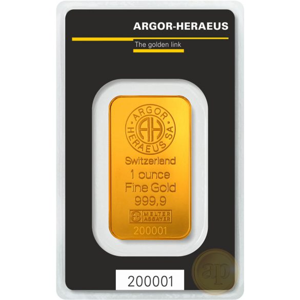 Argor Heraeus, Münze Österreich aranyrúd, 1 uncia