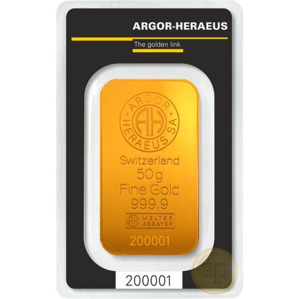 Argor Heraeus, Münze Österreich aranyrúd, 50 gramm