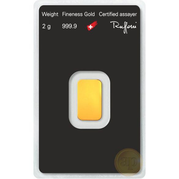 Argor Heraeus, Münze Österreich aranyrúd, 2 gramm