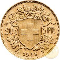 Svájc - 20 frank, Vreneli 1897-1949