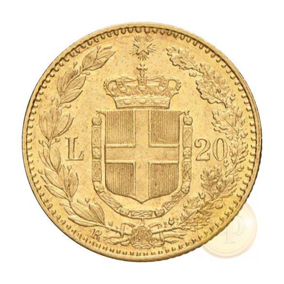 Olaszország - 20 líra, I. Umberto, 1879-1897